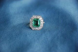 Diamond and Emerald Antique Ring