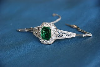 Diamond and Emerald Antique Bracelet