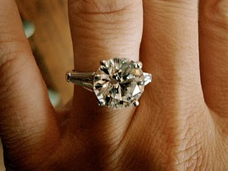 Round Brilliant Heirloom Engagement Ring With Baguettes Ringspotters