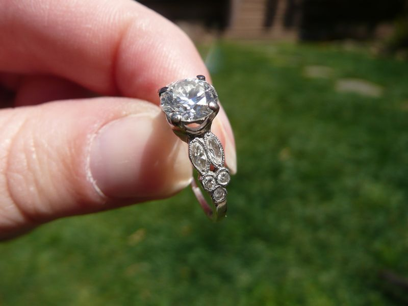 Heirloom Round Brilliant Engagement RIng