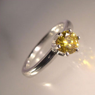 canary engagement ring