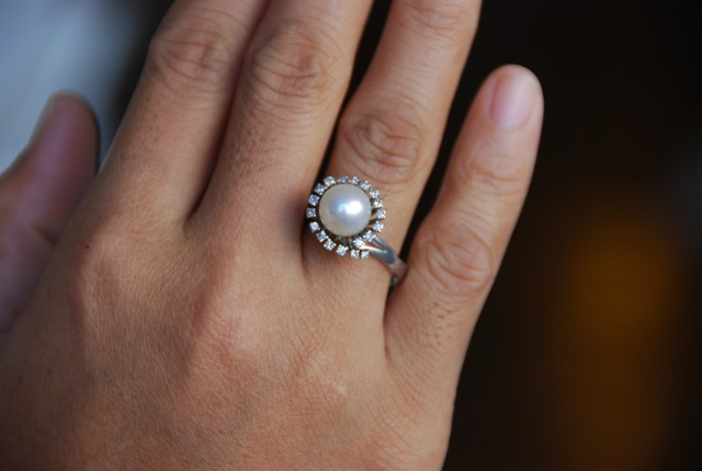 pearl wedding ring pearl engagement rings 6425