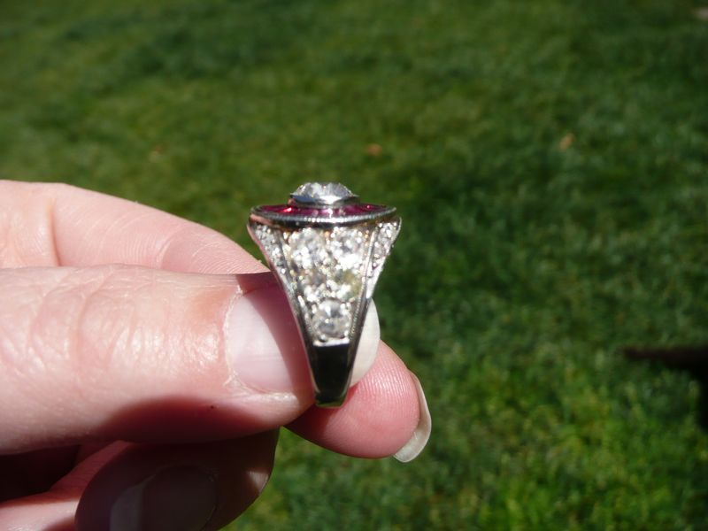 Heirloom Ruby and Diamond Ring