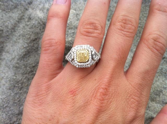 yellow diamond engagement ring - Yellow Diamond Wedding Ring