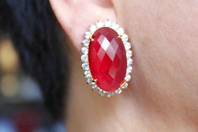 IMG_0500Ruby and Diamond Earrings