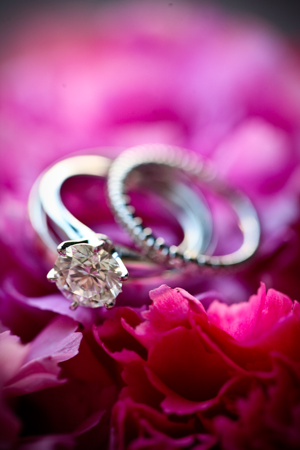 Round Brilliant Engagement Ring + Infinity Wedding Band