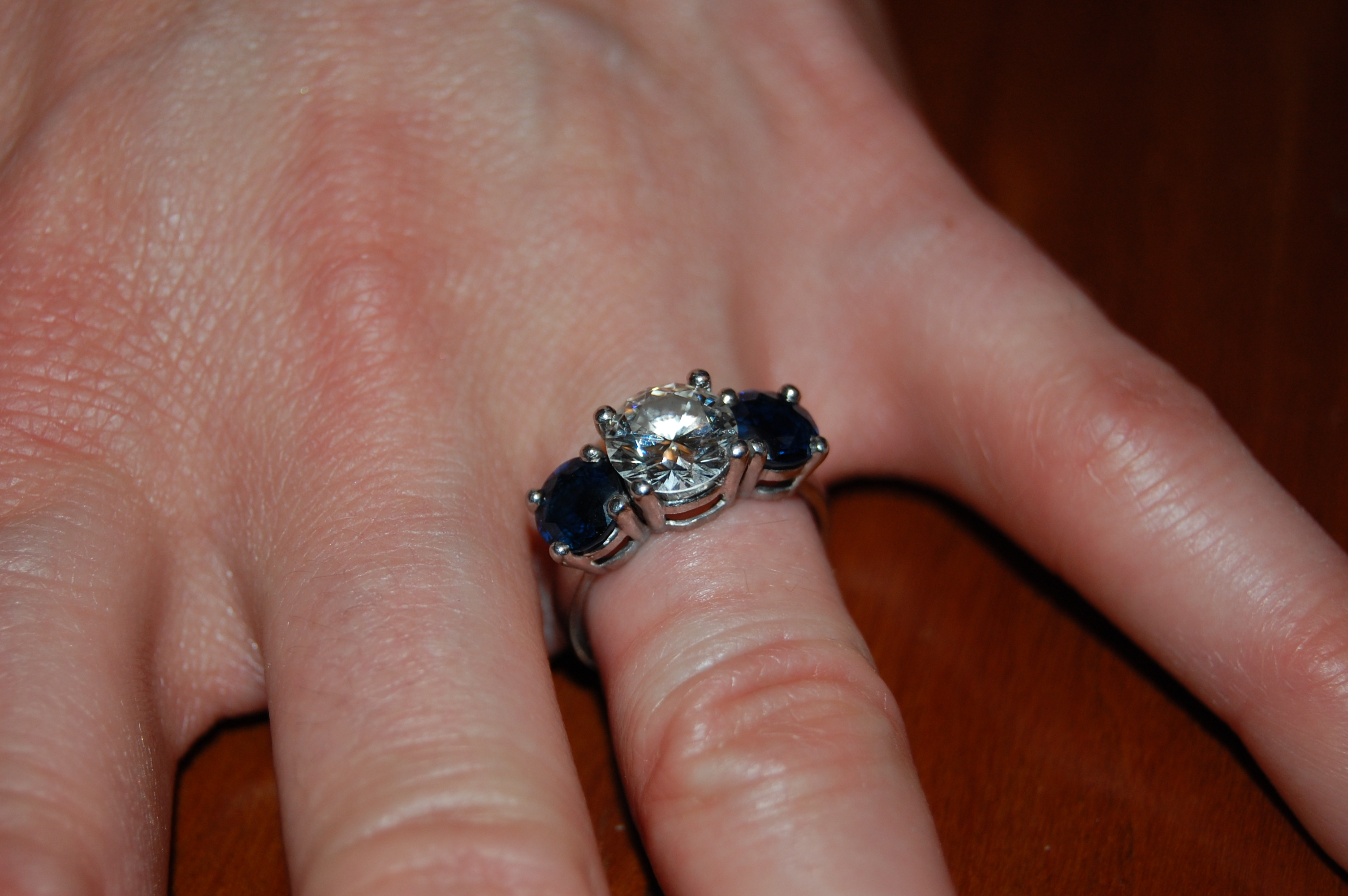 blog spotlight colored on o rings wedding three engagement stone