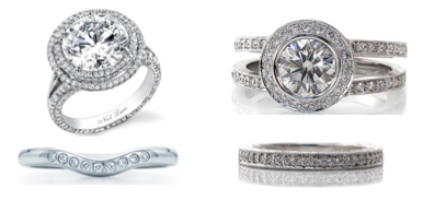 Halo setting with split shank engagement ring 2