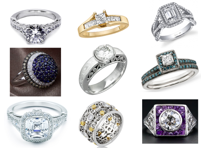 Engagement ring inspiration board