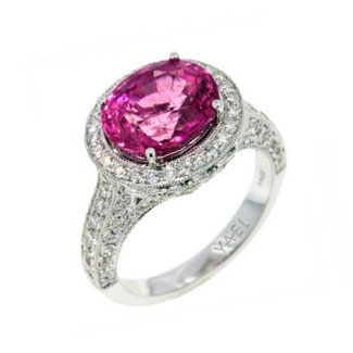 Yael engagement ring pink