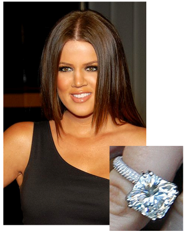 Khloe Kardashian Enagement Ring