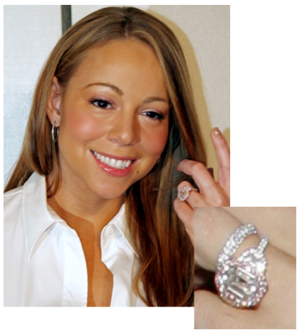 Celebrity Engagement Ring Mariah Carey RingSpotters