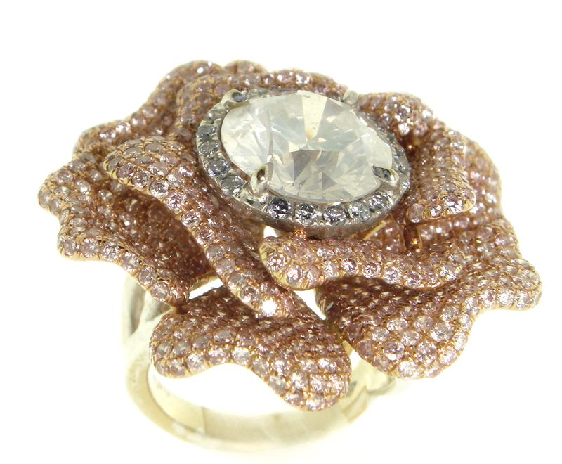 Fancy Diamond Floral Engagement Ring Seren Diamonds