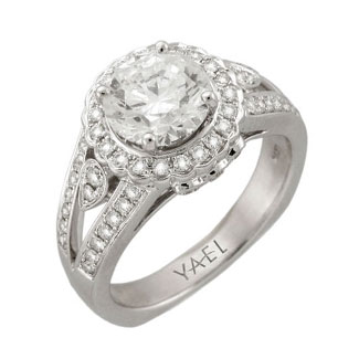 Yael engagement ring split shank