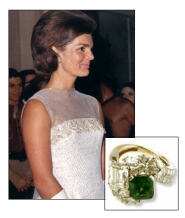 Jackie kennedy engagement ring